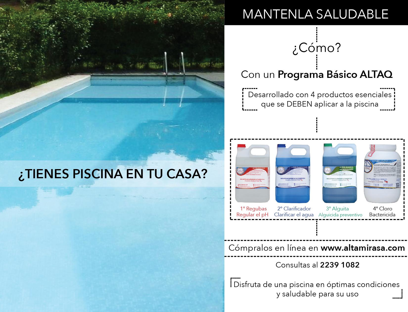 Tienes piscina en tu casa piscinas costa rica for Mantenimiento de la piscina