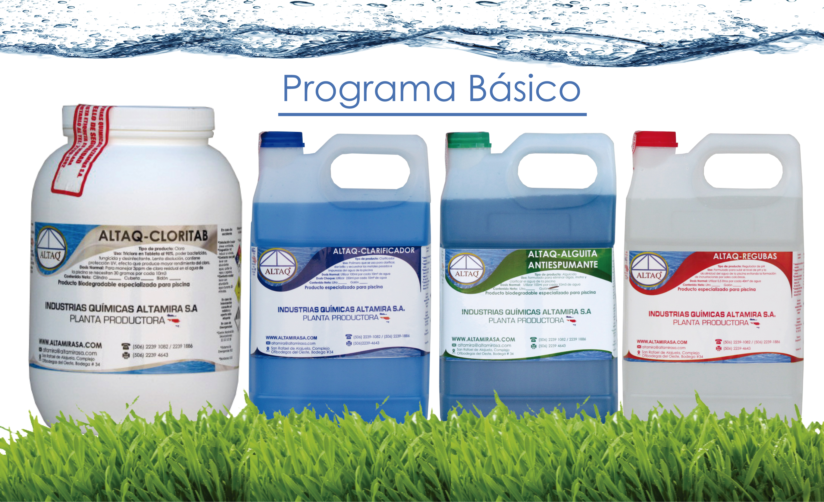 Productos para piscinas - Capacitación ALTAQ