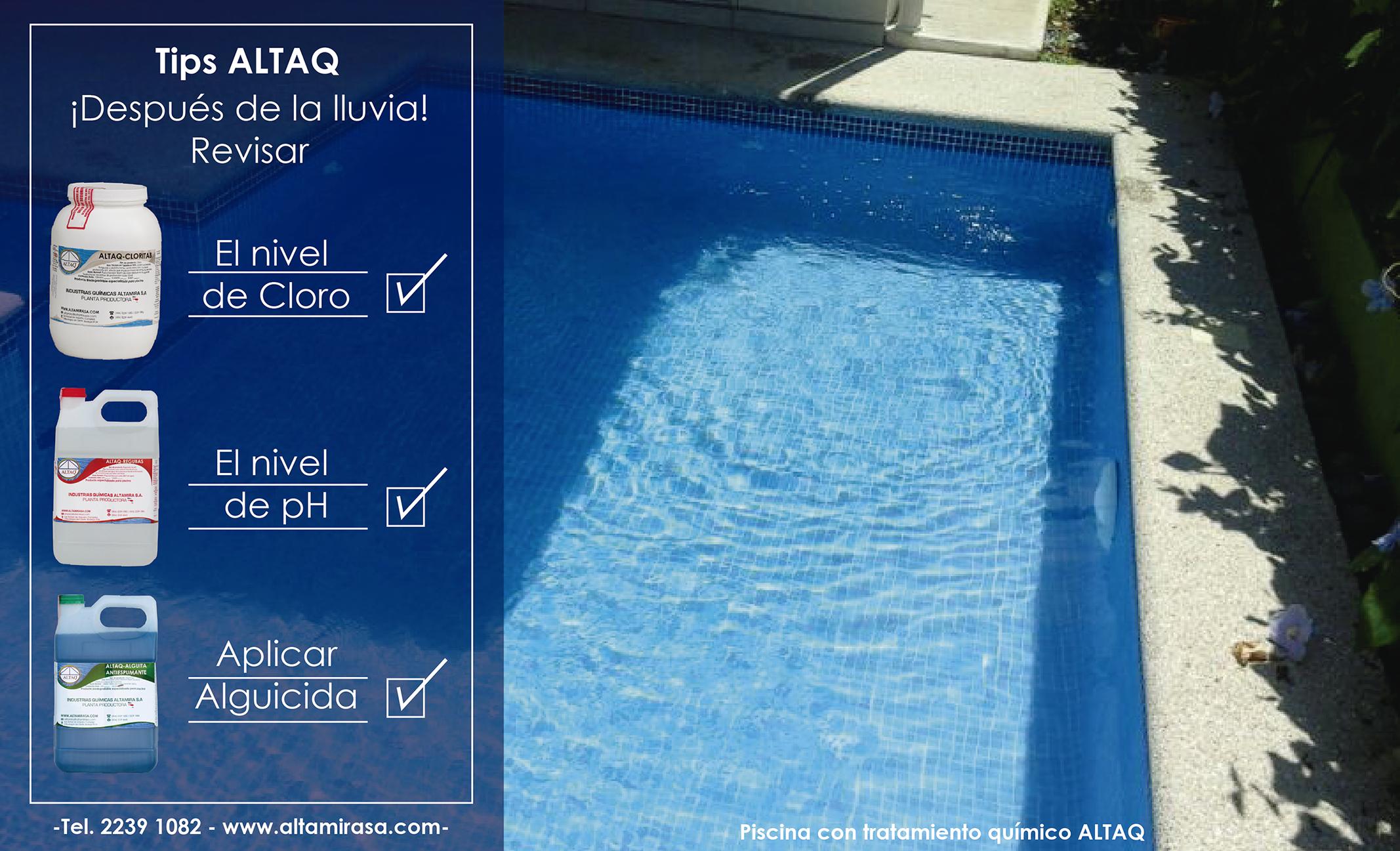 Tips ALTAQ ¡Mantenimiento de piscinas en época de lluvia!