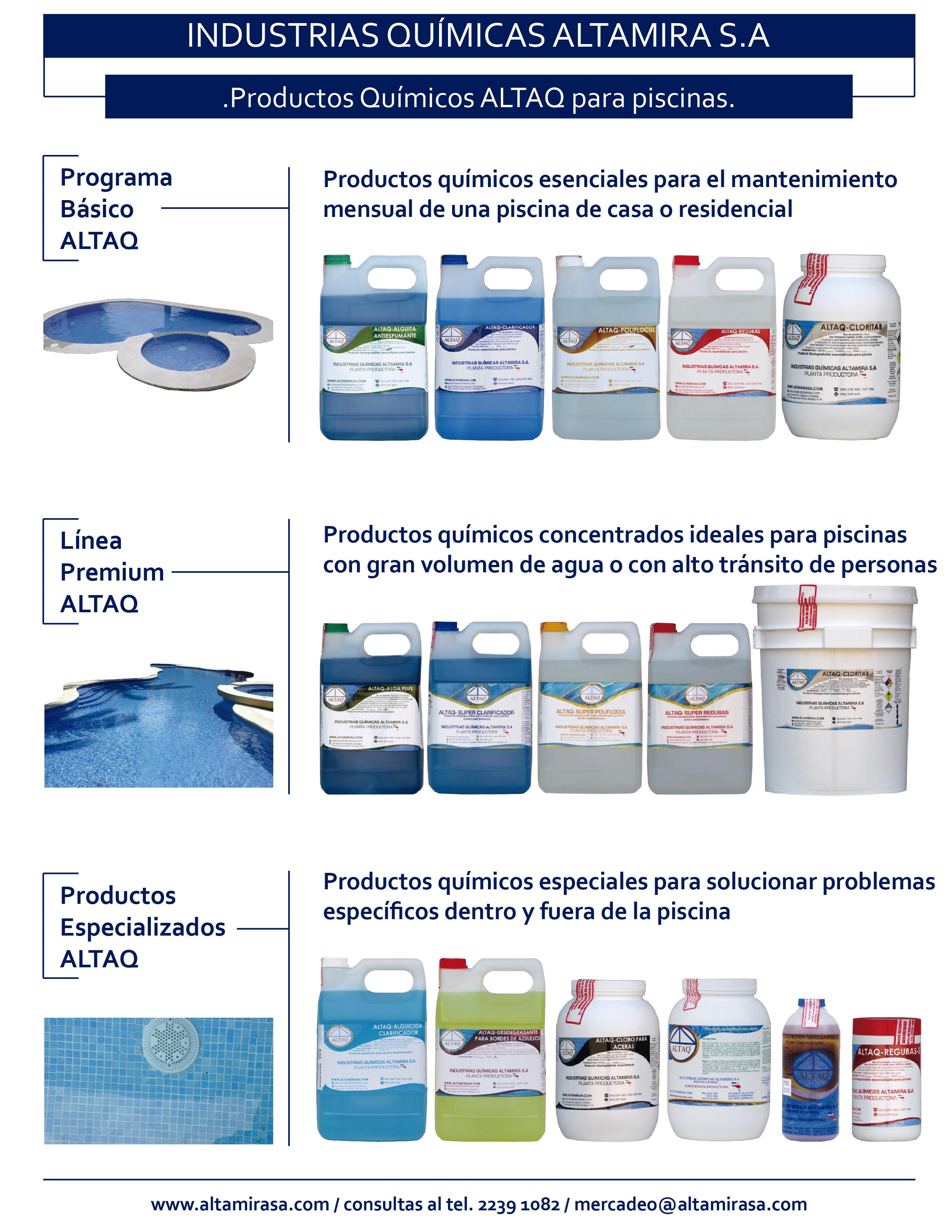 Líneas de productos ALTAQ