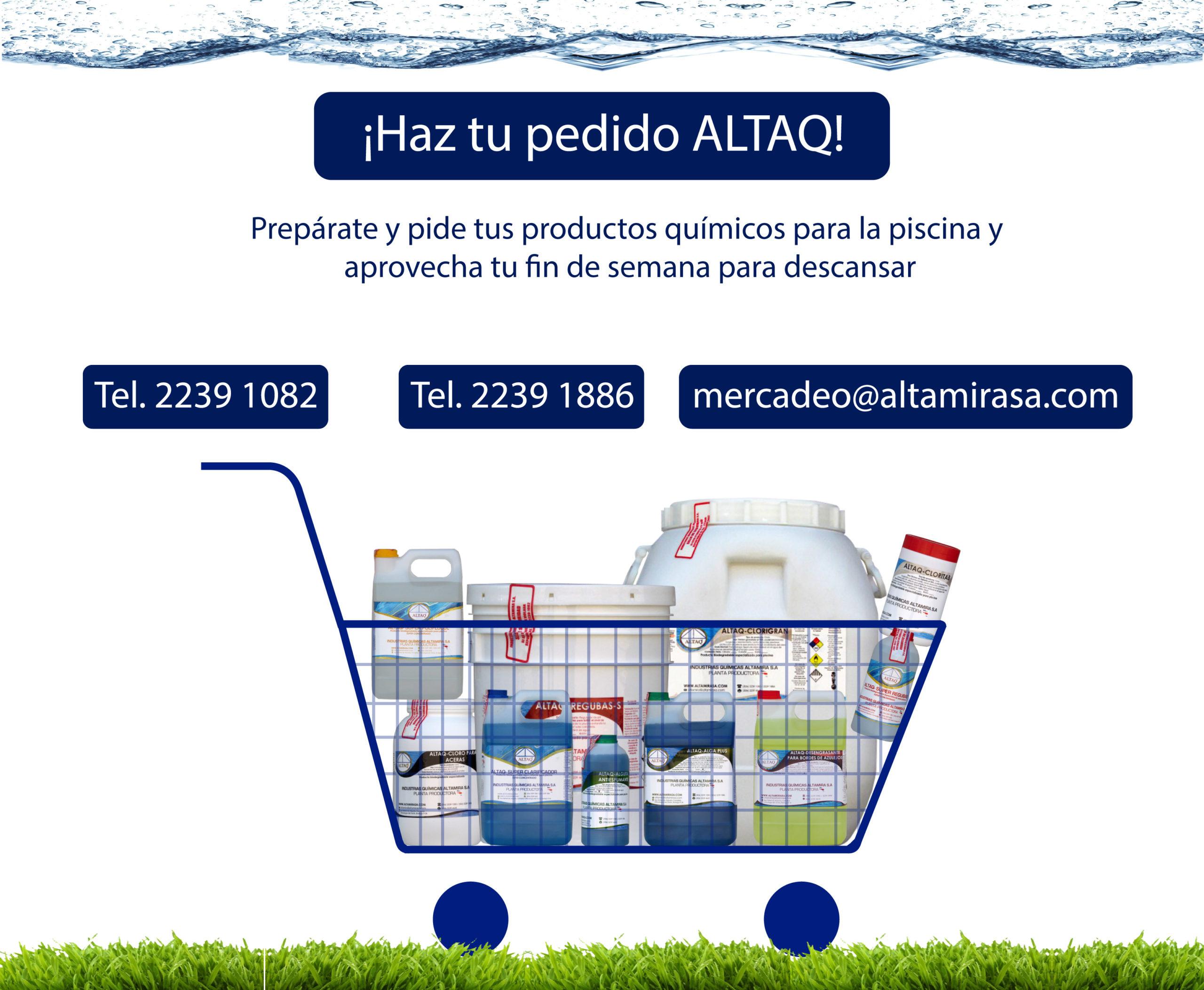 ¡Cómo comprar productos químicos ALTAQ para piscinas!