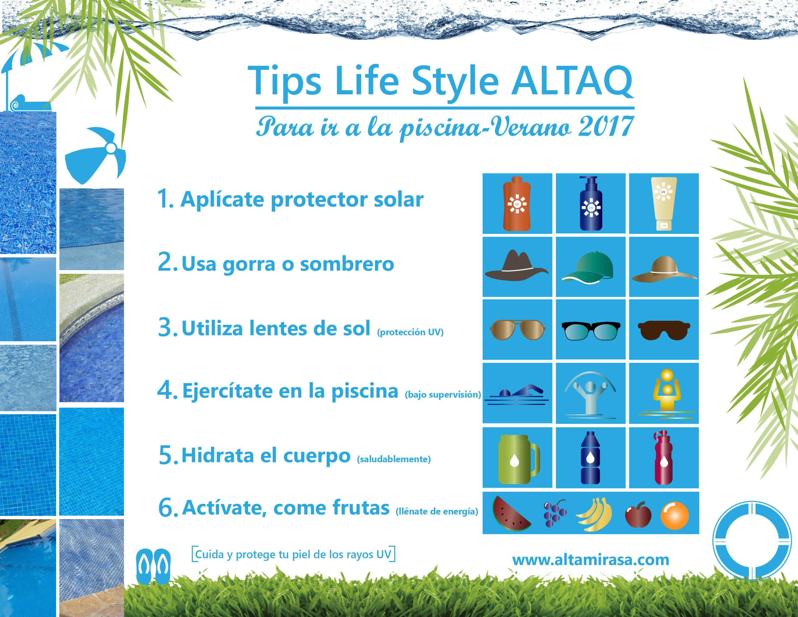 Tips Life Style ALTAQ para ir a las piscinas