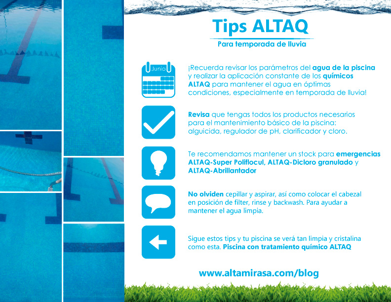 Tips ALTAQ para temporada de lluvia